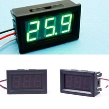 Hot DC 0-30V Voltmeter Green LED Panel 3-Digital Display Volt Voltage Meter#55836