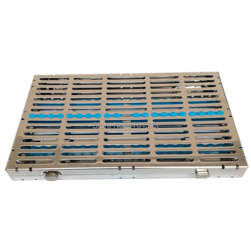 Dental Equipment dental instruments box Stainless steel disinfection box disinfection endo box (20pcs instruments loaded)(China (Mainland))