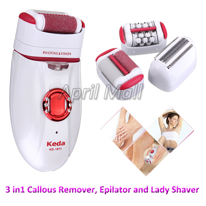 3 in 1 Rechargeable Electric Foot Callus Remover Women Epilator Lady Shaver Hair Removal  for Armpit Bikini Legs Personal Care<br><br>Aliexpress
