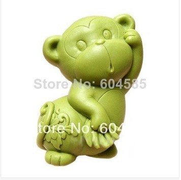 Free shipping Monkey Soap Mold Silicone Soap Mould Candle Mould DIY Soap Making Mold(China (Mainland))