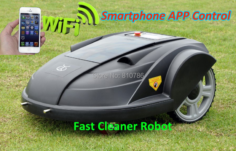 2015 Newest 3th Generation Intelligent Lawn Mower Robot S510 with Updated Wifi APP Wireless Controlled by Smartphone(China (Mainland))