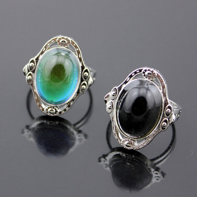 Vintage Retro Color Change Mood Ring Oval Emotion Feeling Changeable Ring Temperature Control r511(China (Mainland))