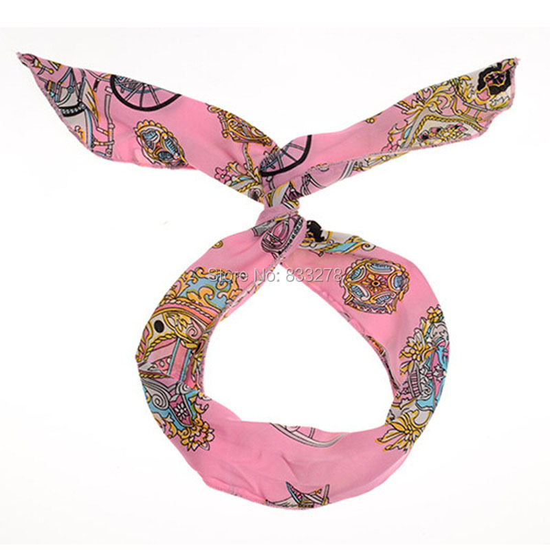 New arrival 2015 women headbands Bunny Ear Elastic Hair Ties Ropes Camellias/Spots Decorated Rubber Fashion Hair Accessories(China (Mainland))