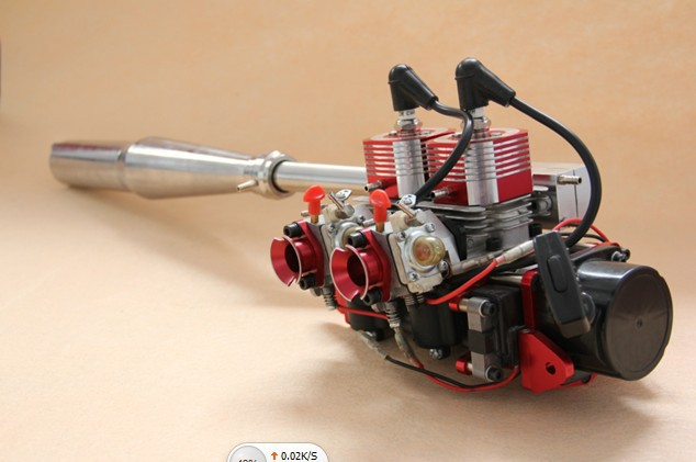 Qj Double Cylinder Two Stroke 58cc Engine Of Rc Boat With
