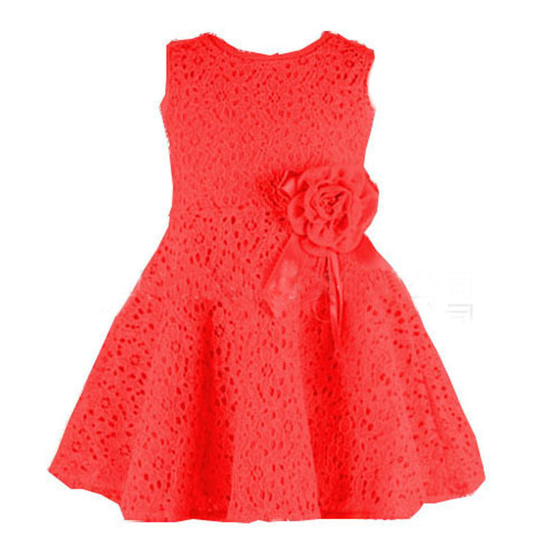 Girl Kids Full Lace Floral One Piece Dress Child Princess Party Dress<br><br>Aliexpress