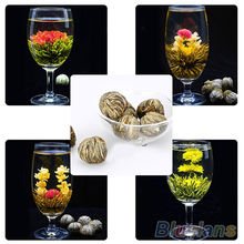 4 Balls Chinese Artisan Different Handmade Blooming Flower Green Tea 1ET4
