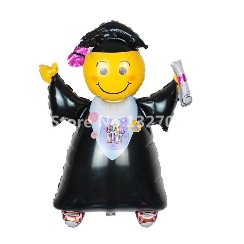 1PCS 71*102cm Big size graduation foil balloons smiling doctor cap for graduation DR. hat party decorations Doctorial globos(China (Mainland))