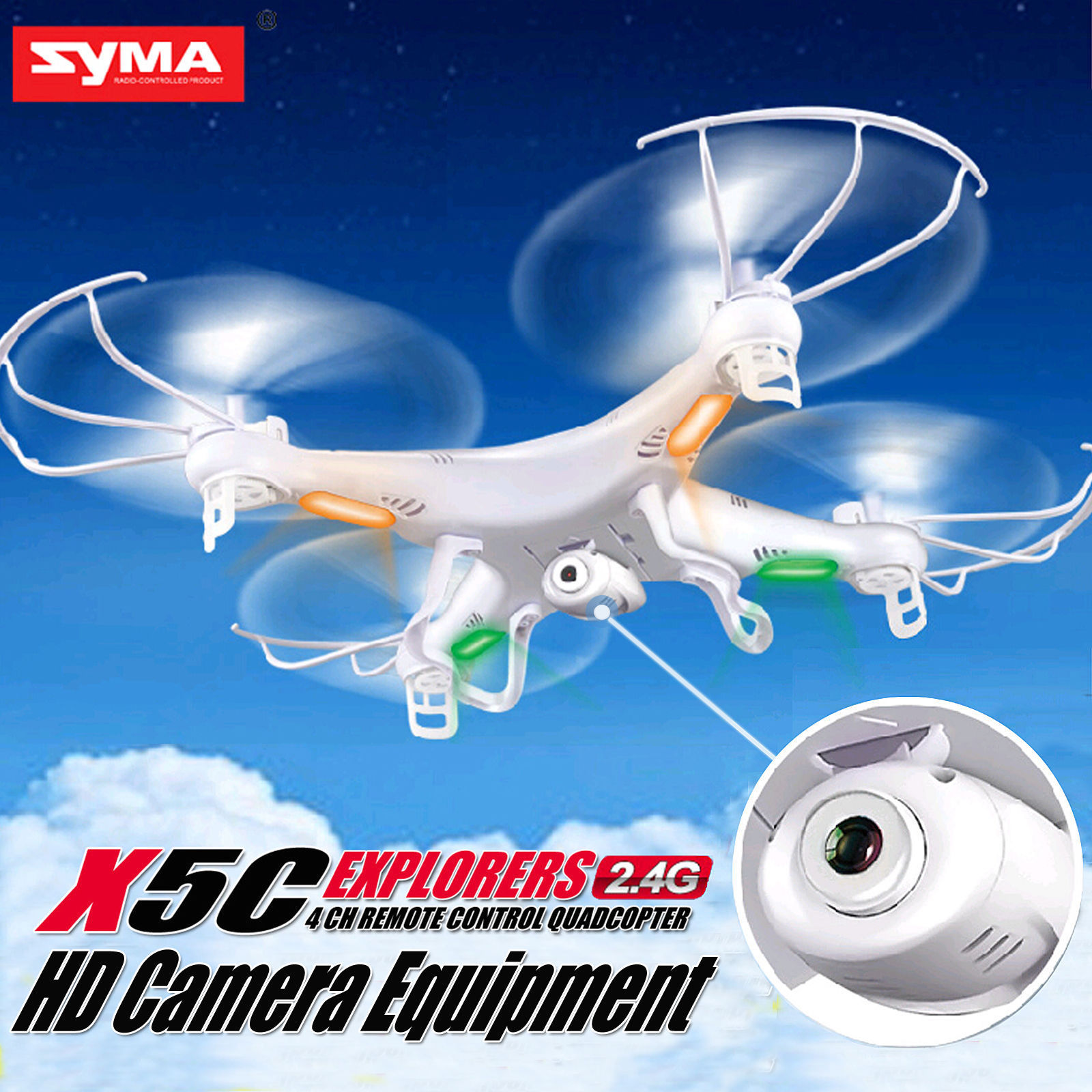 SYMA X5C X5C-1 WIFI RC Drone FPV Quadcopter Drone with 2MP Camera 2.4G 4CH 6-Axis Gyro Helicopter Toys with 5 battery + charger(China (Mainland))