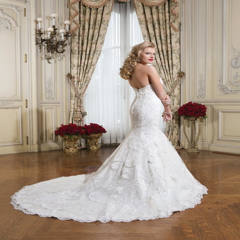 2015 new designer petite wedding dresses size 6 mermaid white lace bridal gowns made in china