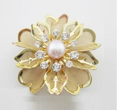 YSXZ033 OL fashion Flower Genuine pearl brooch new bouquet breastpin fashion pearl jewelry wholesale free shipping