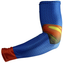 2016 new fashion men super hero cover fishing running basketball hand compression arm sleeve warmers sleeves holders sleevelet(China (Mainland))