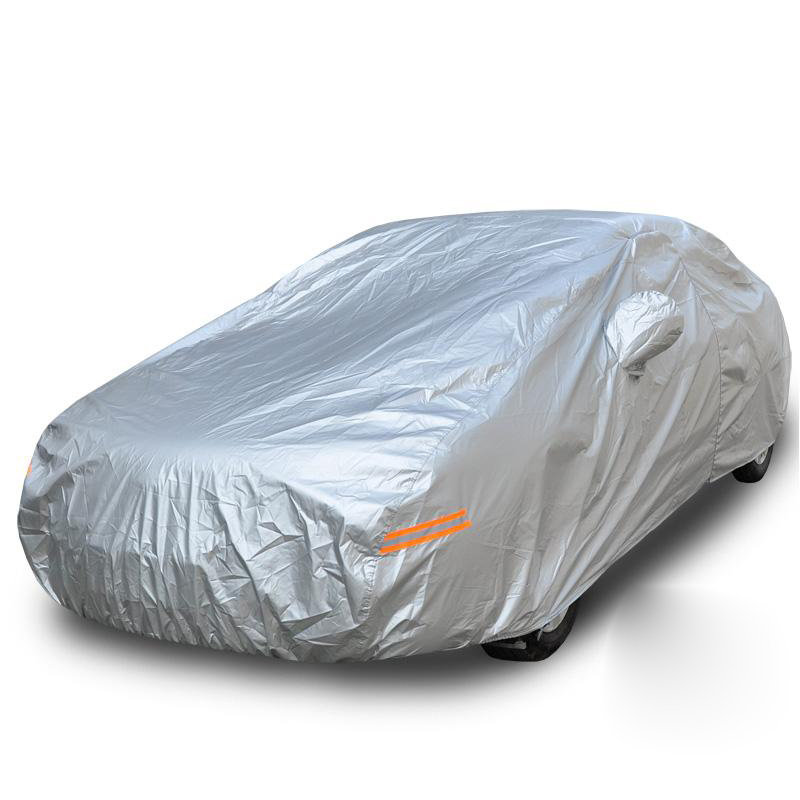 Car Cover Silver Color Breathable UV Protection Outdoor Indoor Shield Car Covers Sedan-XXL 5.3*2*1.55 Free Shipping(China (Mainland))