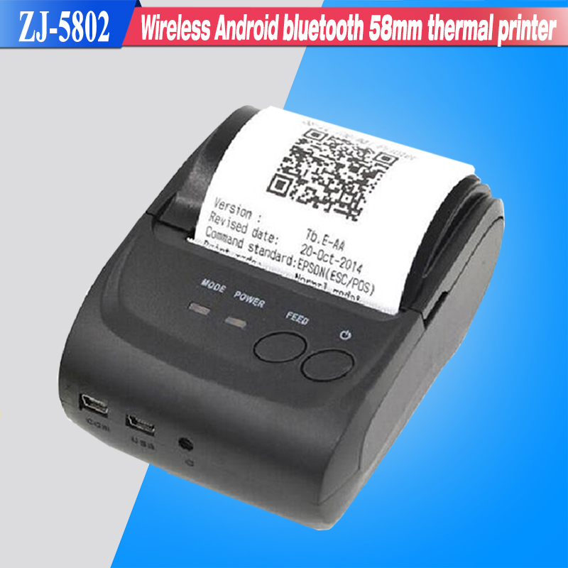 Free SDK Wireless Android Bluetooth Thermal Printer 58mm Mini Bluetooth Thermal Receipt Printer - Bluetooth Android(China (Mainland))