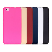 For P8 Lite Lovely Candy Color Silicone TPU Gel Soft Case For Huawei Ascend P8 Lite Rubber Soft Back Skin Shockproof Phone Cover