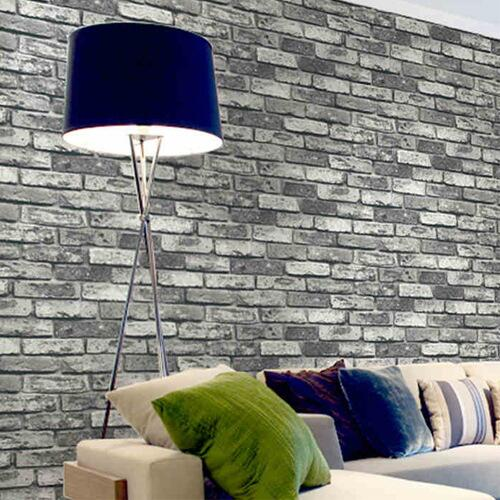 Pvc vinyl vintage shabby brick stone 3d wallpaper living for 3d wallpaper for home decoration