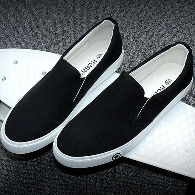 Весна и осень холст новый бренд скейтборд мужской обуви на плоской подошве скольжения ...