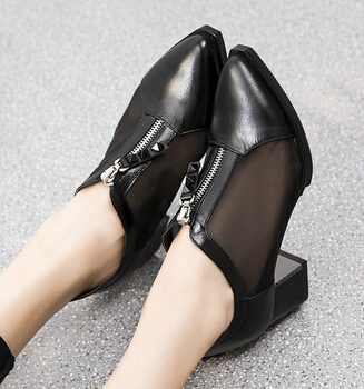 Fashion New 2015 Women Genuine Leather Oxfords shoes black High Quality Cowhide Women's Gommini Loafers Ladies Oxford Shoes