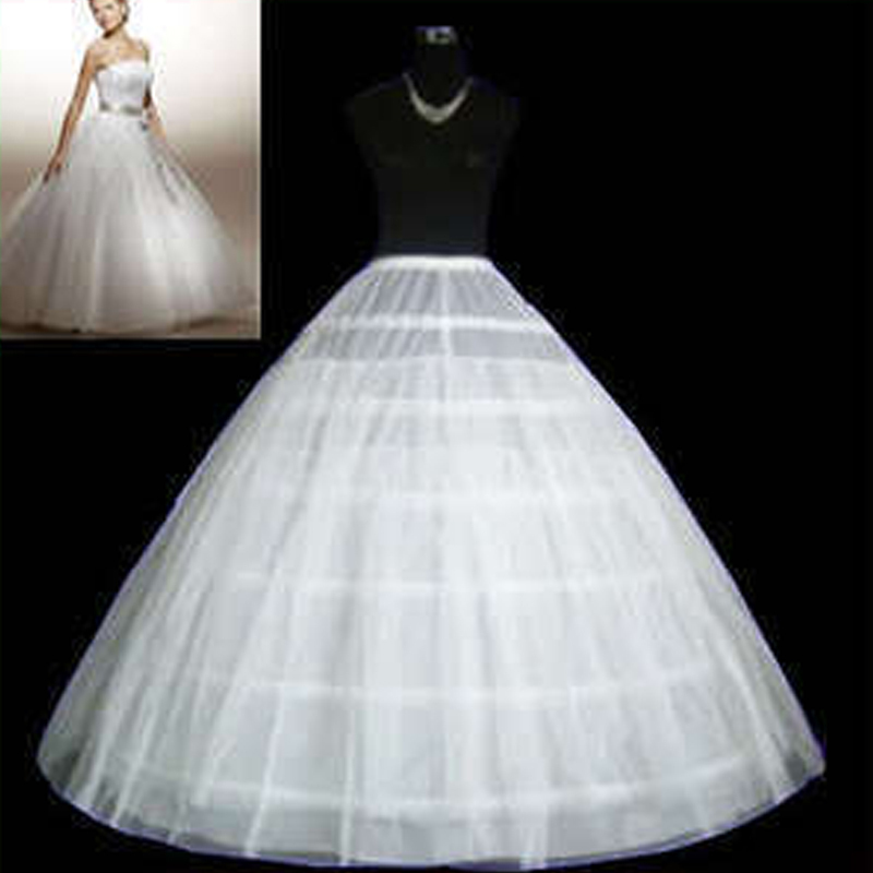 Cheap ball gown petticoat white 6 hoops tulle petticoat for Tulle petticoat for wedding dress