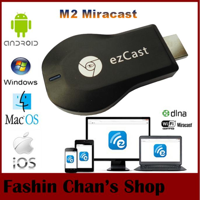 Ezcast M2 Chromecast miracast airplay dlna tv stick wireless display media player 1080p hdmi wifi dongle windows ios andriod - Fashion Chan's Shopping Mall store