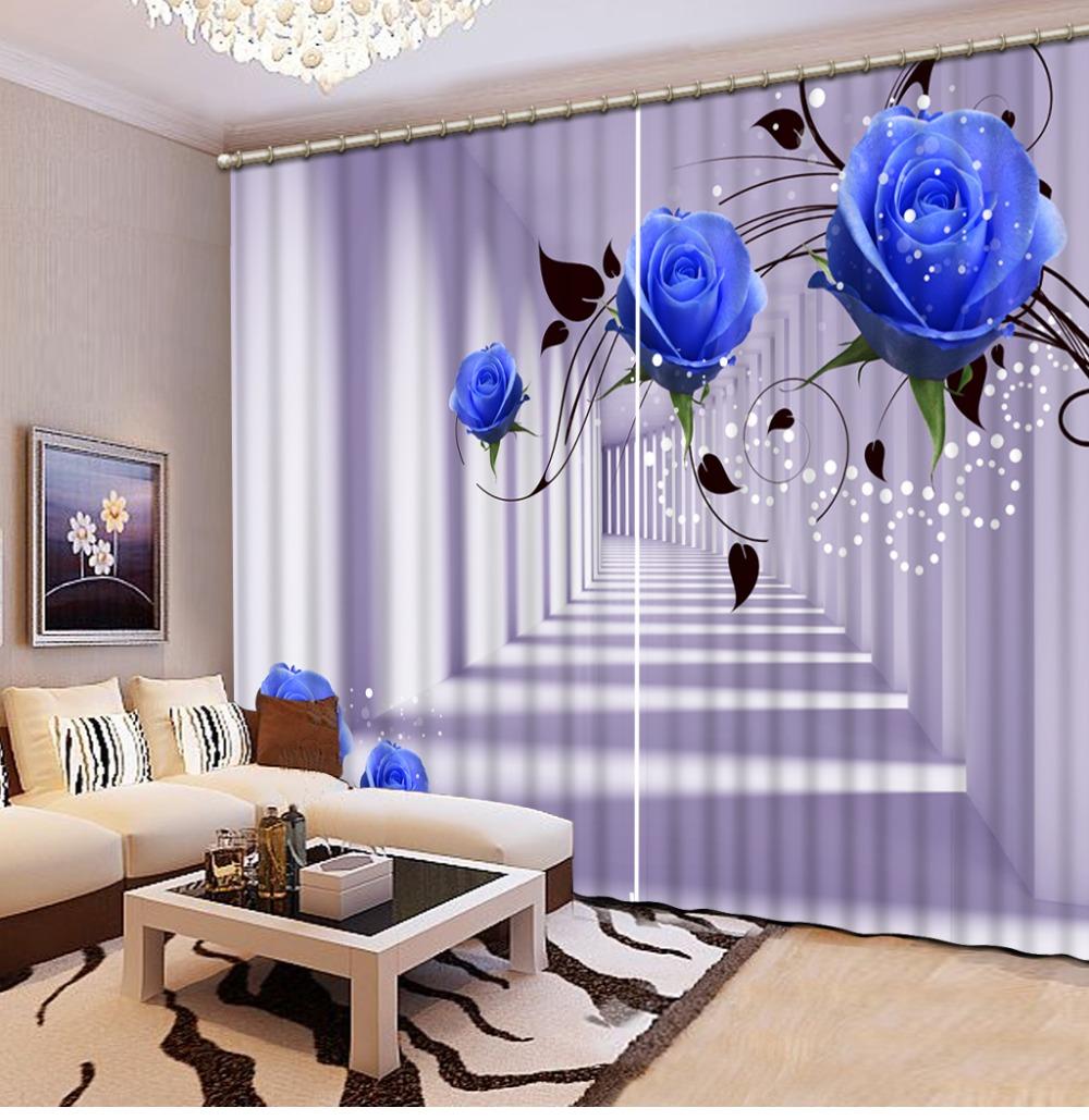 Achetez en gros 3d bleu rose rideaux en ligne à des grossistes 3d ...