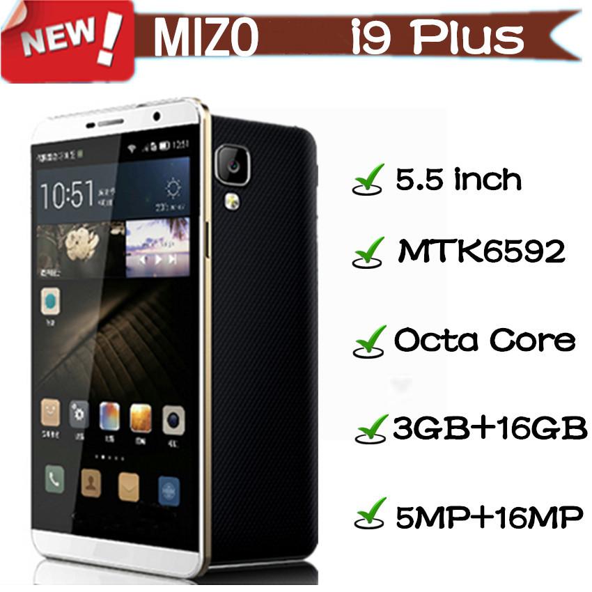 Original MIZO I9 Plus Smartphone MTK6592 Octa Core Android 5.0 3GB RAM 16GB ROM 5.5 inch 16MP camera cell mobile phone(China (Mainland))
