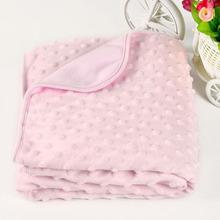 Coral Fleece Newborn Baby Blanket Swaddle Wrap Super Soft Baby Nap Receiving Blanket Manta Bebe Cobertor Bebe Aden Anais(China (Mainland))