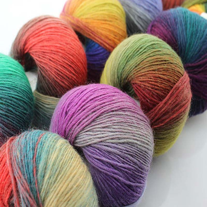 200g/4 Skein 100% Merino Wool Crochet Yarn Thick For Hand Knitting ...
