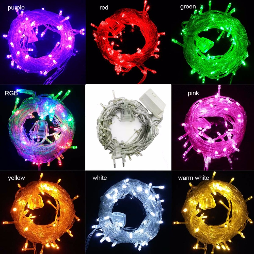 connectable 10M 50Leds Led string lights fairy christmas lights outdoor indoor wedding party decoration garland patio lights(China (Mainland))