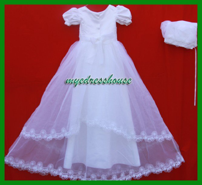 DHL Free shipping wholesale Christening dress&baby dress&Christening gown 300124(China (Mainland))
