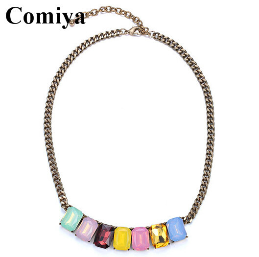 Comiya New Fashion Women Statement sweet style Necklace Charm Party silver Necklace Chain Luxury Choker Collar girl Necklaces(China (Mainland))