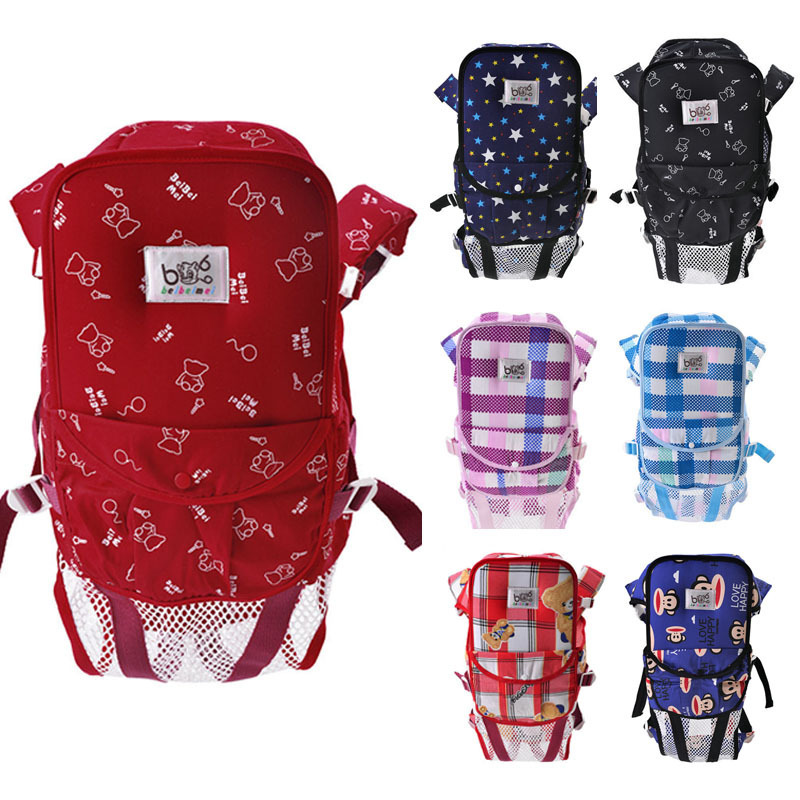 Summer Sling Baby Breathable Cotton Backpack For New Born Baby Carrier ...