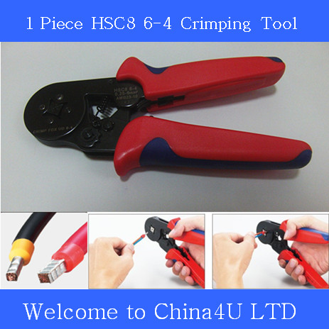 1 pc HSC8 6-4 Bootlace Ferrules Crimping Tools Self-adjustable crimping Plier for solar pv wire cable(China (Mainland))