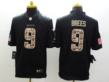 100% Stitiched New Orleans Saint Kenny Vaccaro Drew Brees Brandin Cooks white Black Green Salute(China (Mainland))