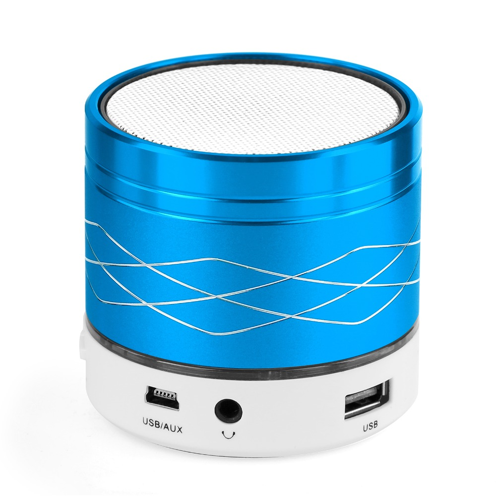 store product SA Mini LED Light Metal Steel Wireless Bluetooth Speaker Handsfree Music Amplifier with FM SD AUX