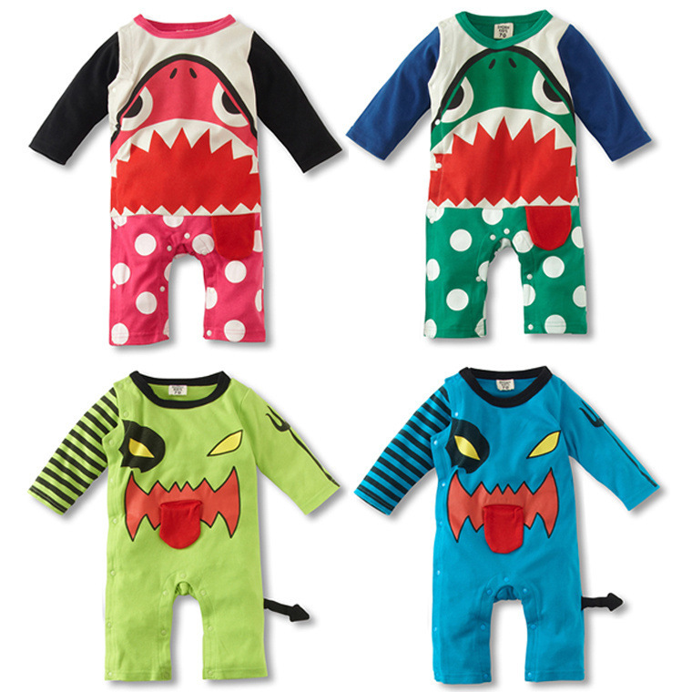 Spring baby boys girls rompers animal characters Newborn Wear Baby Casual Rompers Cotton Pajamas Cartoon(China (Mainland))