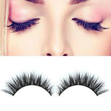 Natural Lashes 3D Fashion Bushy Cross Natural False Eyelashes Mink hair Handmade Eye Lashes(China (Mainland))