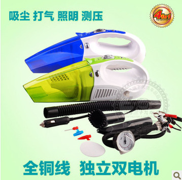 Factory direct multi-function wet and dry car cleaners with LED lighting with a pneumatic pump with pressure measurement functio(China (Mainland))