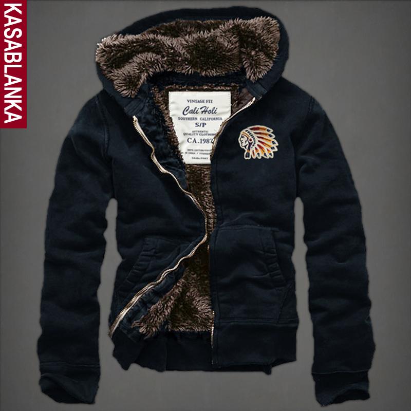 Mens hooded hoodies cardigan sweatshirt hoodie thick velvet autumn and winter men winter coat jacketÎäåæäà è àêñåññóàðû<br><br>