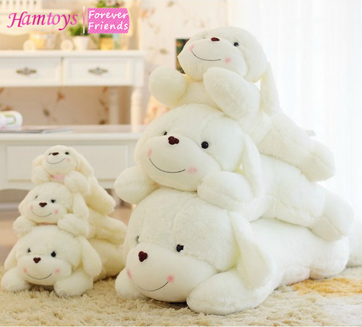Squishy Dog Toys : 30cm Very Cute Plush Dog Soft Toy Sleep Calm Cuddly Toy Dog Birthday Gift for Kids Girlfriend ...