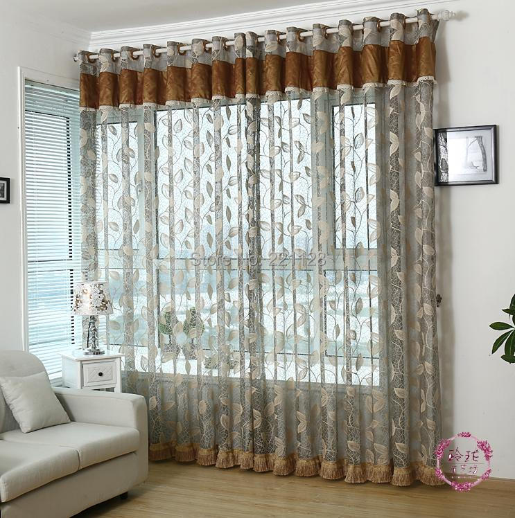 Quantity Sheer Panel Voile Curtain With Valance Tulle