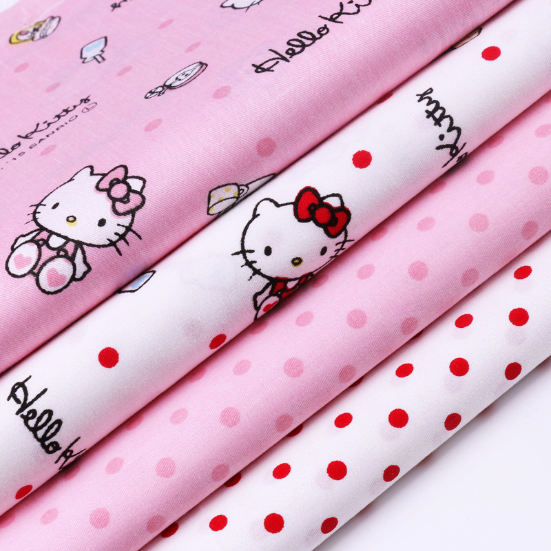 40 50cm 100 cotton fabric hello kitty twill printed tissu. Black Bedroom Furniture Sets. Home Design Ideas