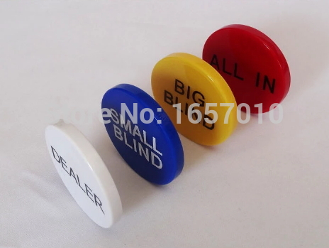 4 PCS/Set, ABS DEALER, ALL IN,BIG BLAND,SMALL BLAND Casino special Texas cards.Poker Chips  -  Your-Lucky-Store store