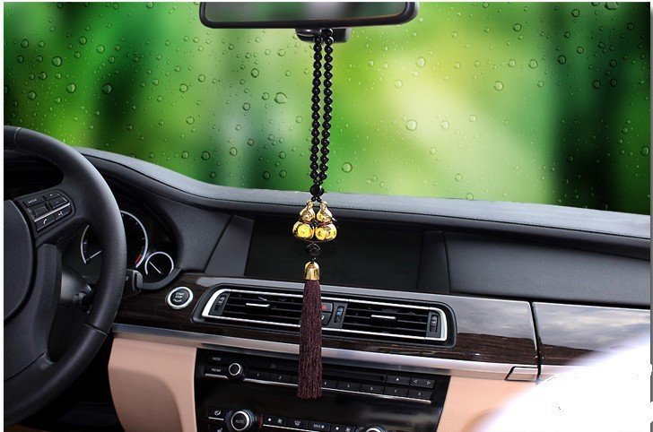 Renault Fluence Megane Laguna Koleos Scenic Gold Plated Double Gourd Car Pendant Amulet for Safe Driving Lucky Interior Supplies(China (Mainland))
