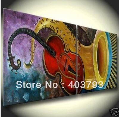 MODERN ABSTRACT HUGE LARGE CANVAS ART OIL PAINTING music Guitar speaker for decoration framed(China (Mainland))