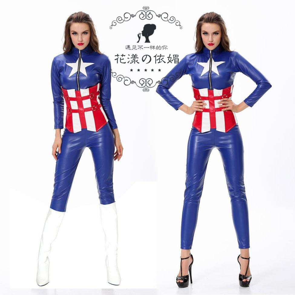 2015 Carnival Costume The New Euramerican Game Uniform Cosplay Future Soldier American Captain Clothing Wholesale Manufacturers(China (Mainland))