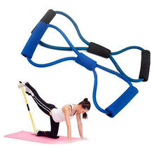 Buy 1 pc 8 Shaped Resistance Training Bands Workout Exercise Tube Resistance Rope Hot Selling Yoga Fitness Accessories for $1.43 in AliExpress store