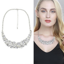 Buy 2016 New design luxury crystal necklace women charm shiny leaf crystal pendant necklace wedding exquisite gift RM1042 for $8.37 in AliExpress store
