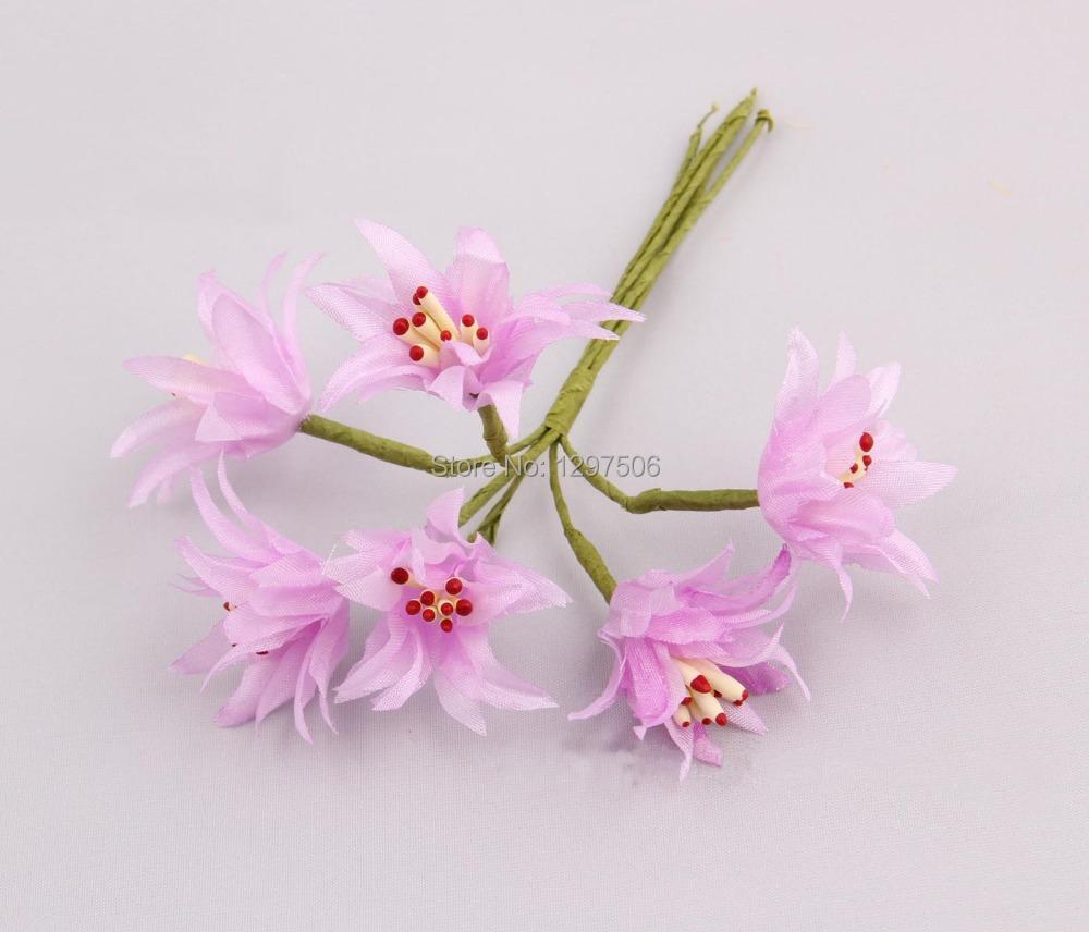 Artificial pequeno tecido lily bouquet seda Morning glory arranjos de artesanato diy acessórios decoração para chapéus cabelo guirlanda(China (Mainland))