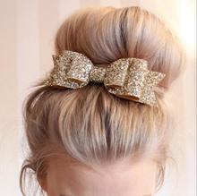 Buy Hair Clip Women Baby Girl Big Glitter Hair Bow Kids Hairpins Hair Clips Children Hair Accessories Toddler Headwear for $1.71 in AliExpress store