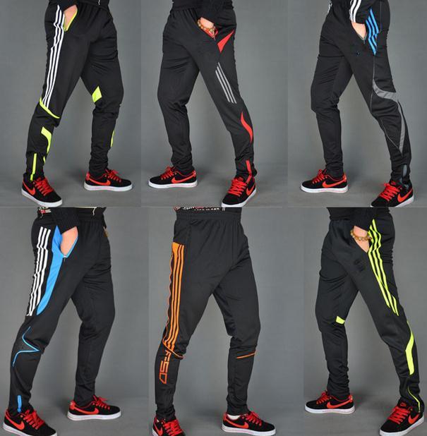 Free Shipping football training pants / men's soccer leg pants / sweat pants leg trousers Leggings(China (Mainland))